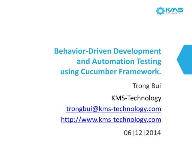 Behavior-Driven Development and Automation Testing Using Cucumber Framework Webinar