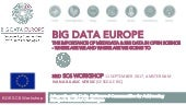 Big Data Europe: Workshop 3 SC6 Social Science: THE IMPORTANCE OF METADATA & BIG DATA IN OPEN SCIENCE