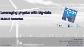 BDE SC3.3 Workshop -  Big Data in Wind Turbine Condition Monitoring