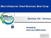 Be Small Business Boot Camp   Update