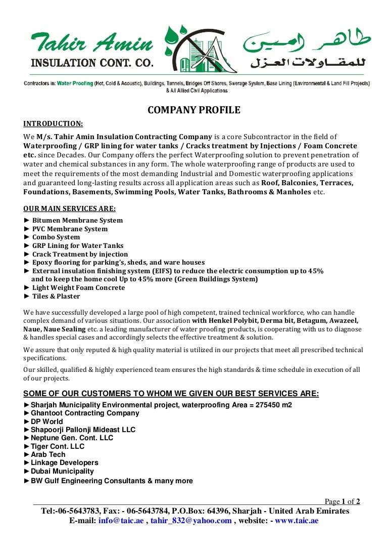 Company Profile @