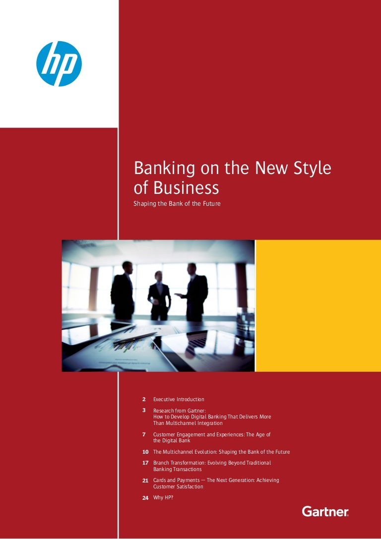 2015 gartner hp banking on the new style of business shaping the magicingreecefo Choice Image