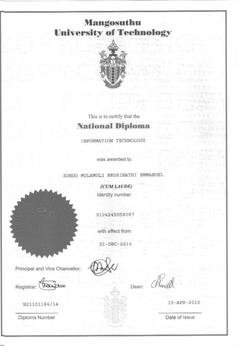diploma technology national