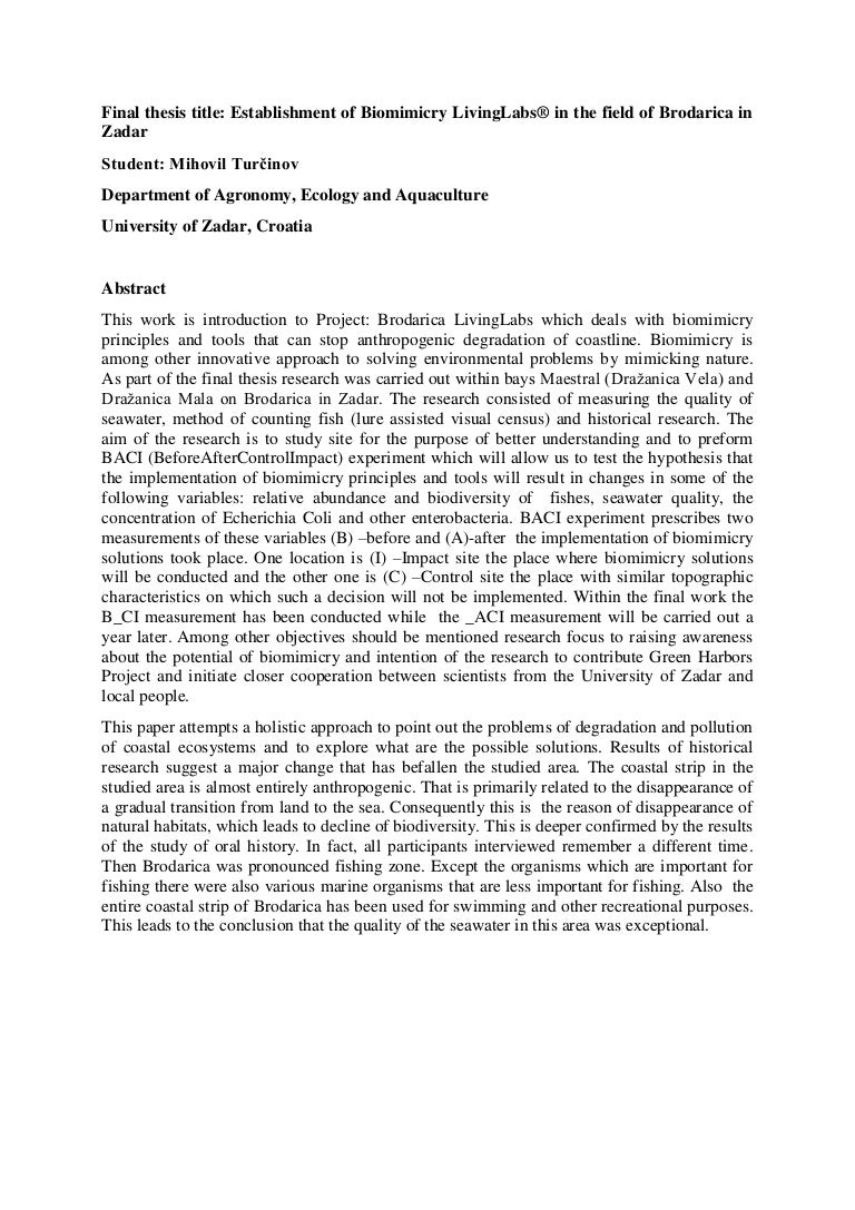 Dissertation proposal abstract