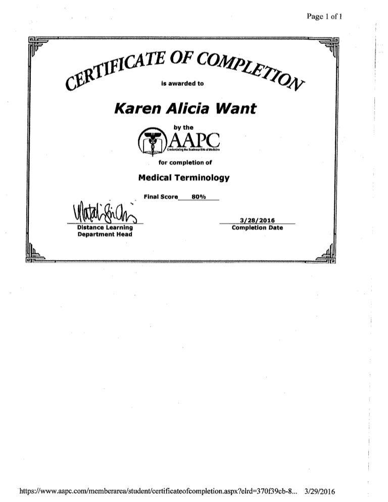 certificate medical terminology slideshare upcoming