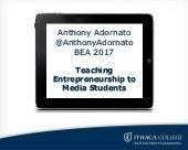 Teaching Entrepreneurship to Media Students
