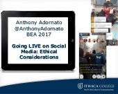 Going Live on Social Media: Ethical Considerations for Journalists