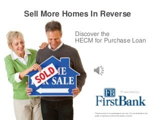 HECM for Purchase Reverse Mortgage