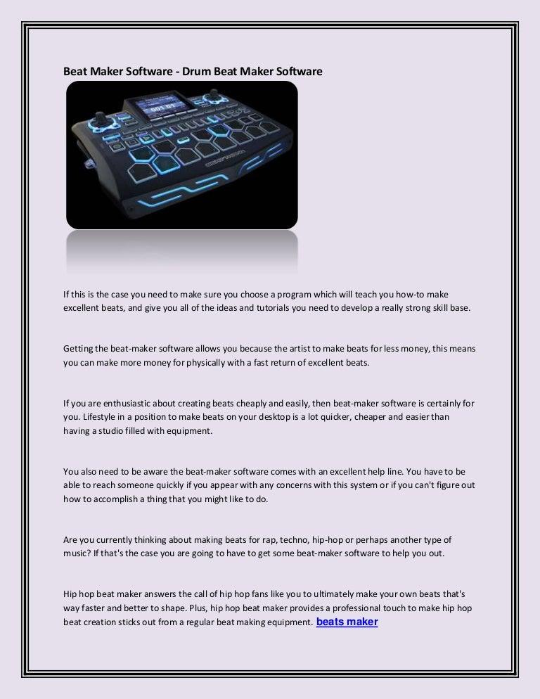 Beat maker software drum beat maker software