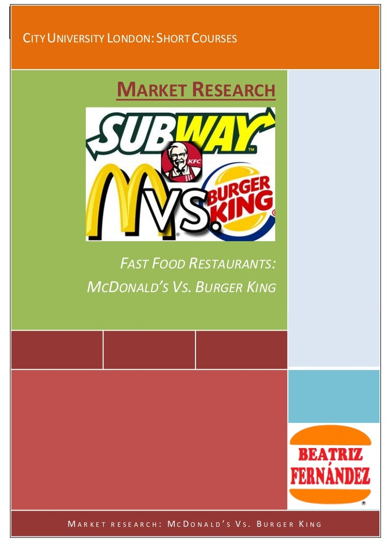 market research fast food restaurants