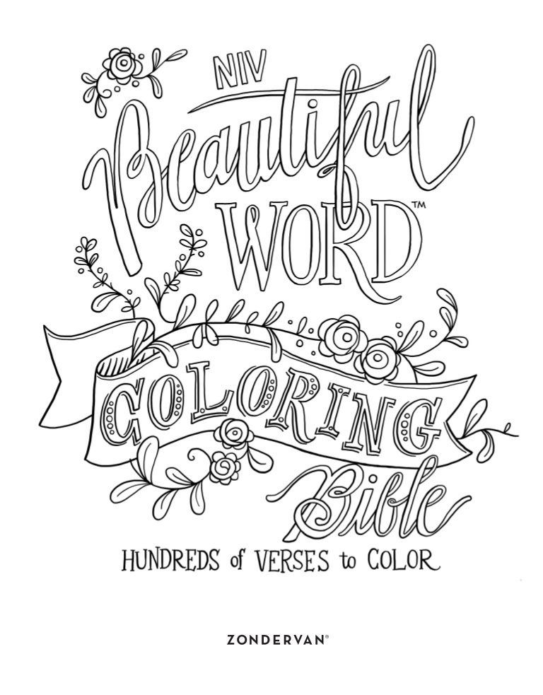 """FREE """"Beautiful Word"""" COLORING PAGES"""