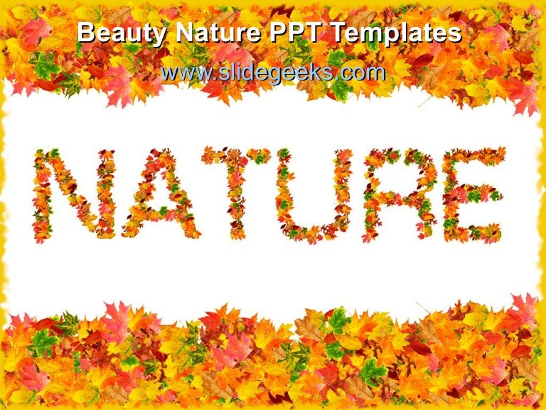 Beauty nature ppt templates
