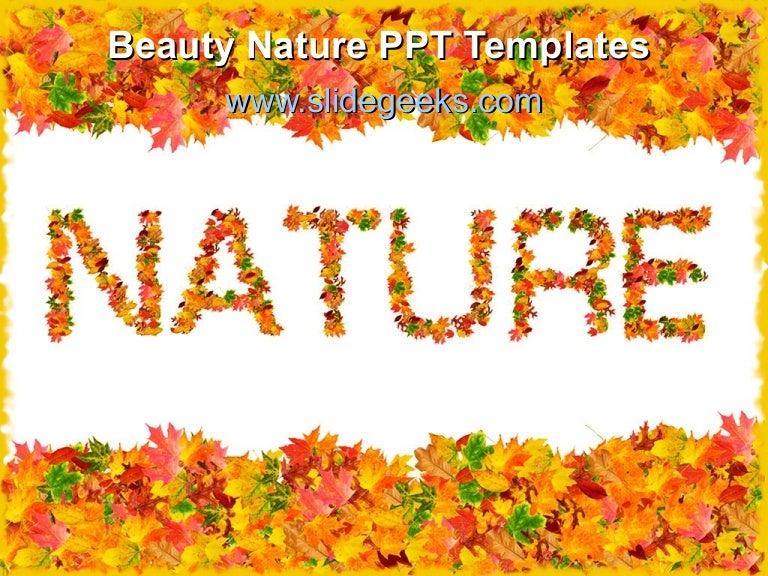 Beauty nature ppt templates toneelgroepblik Image collections