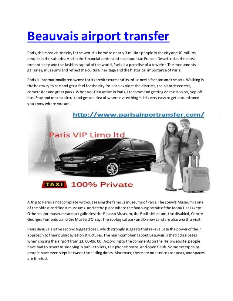 Beauvais airport transfer
