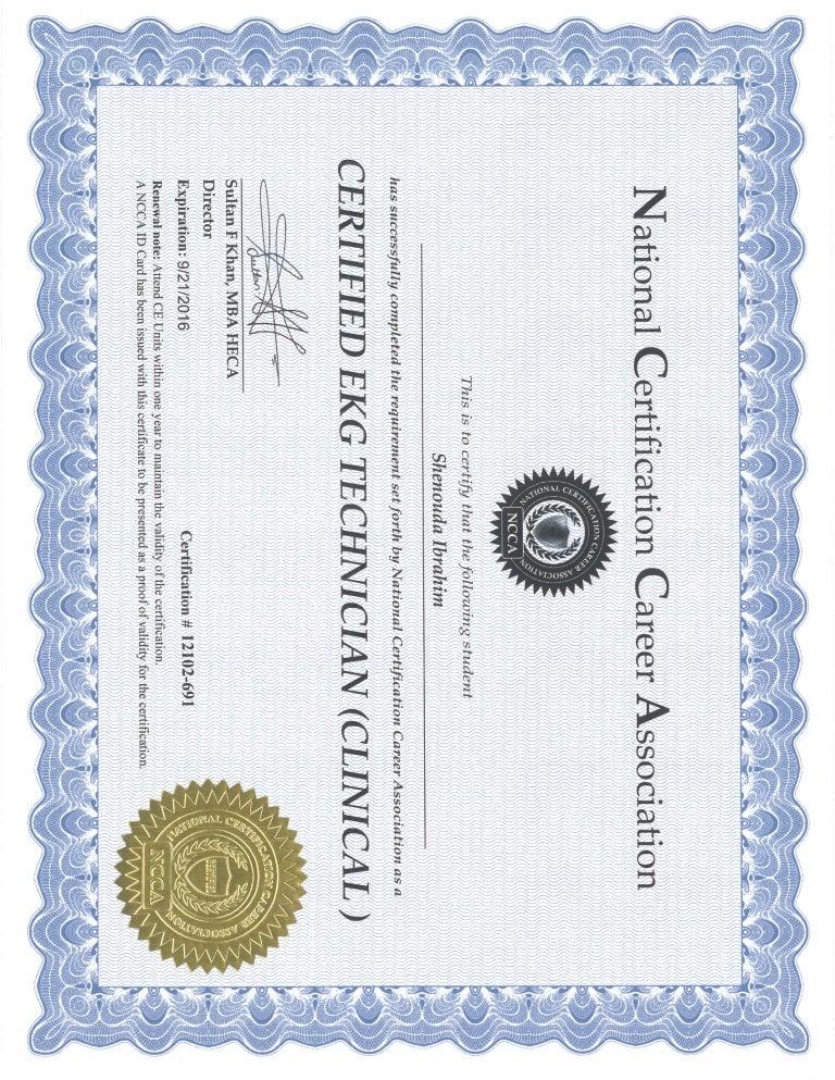 Ekg Phlebotomy Certificates