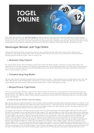 situs agen togel terbaru