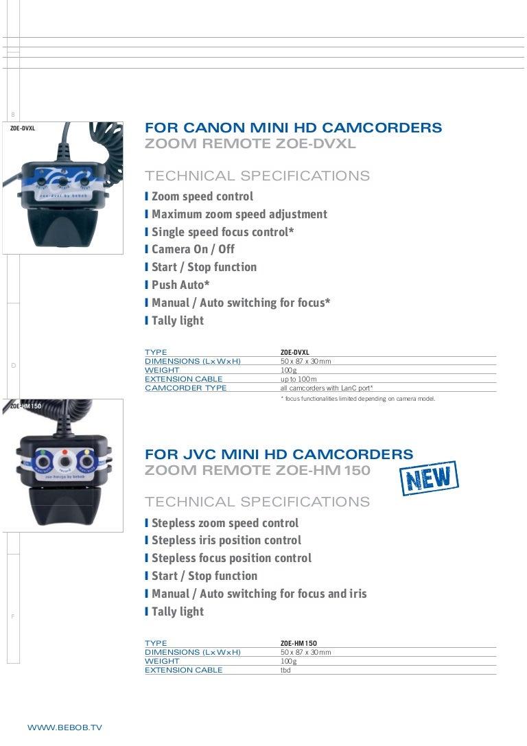 Bebob Canon & JVC remotes