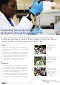Accelerating Africa's agricultural development through biosciences