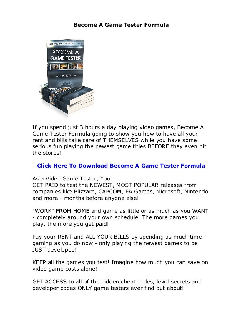 become a game tester formula review get paid to play video games