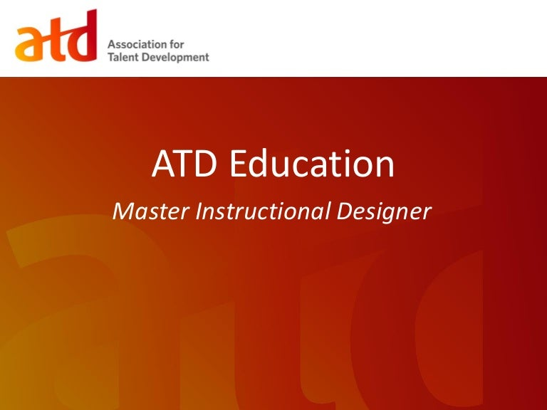 Webinar Become A Master Instructional Designer