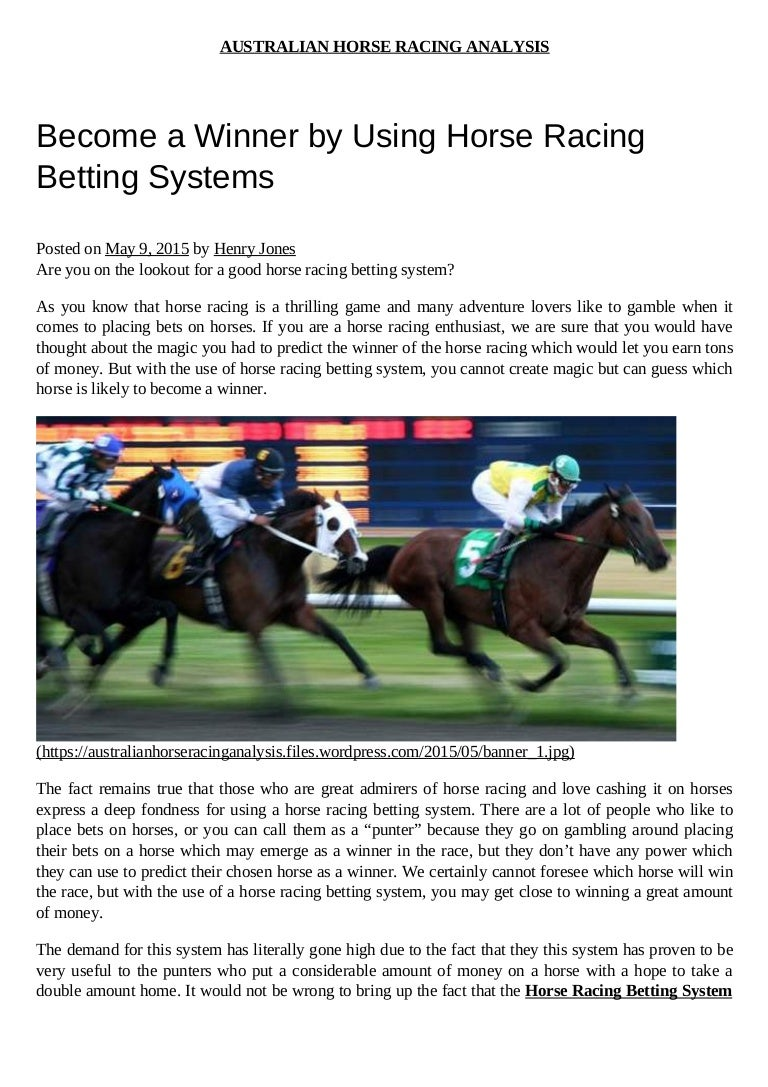 Horse racing betting systems that work best us binary options brokers 2021
