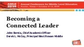 Becoming a Connected Leader - AMLE