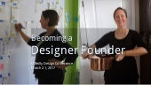 Becoming a designer founder