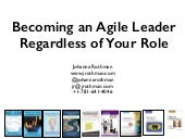 Becoming an Agile Leader, Regardless of Your Role