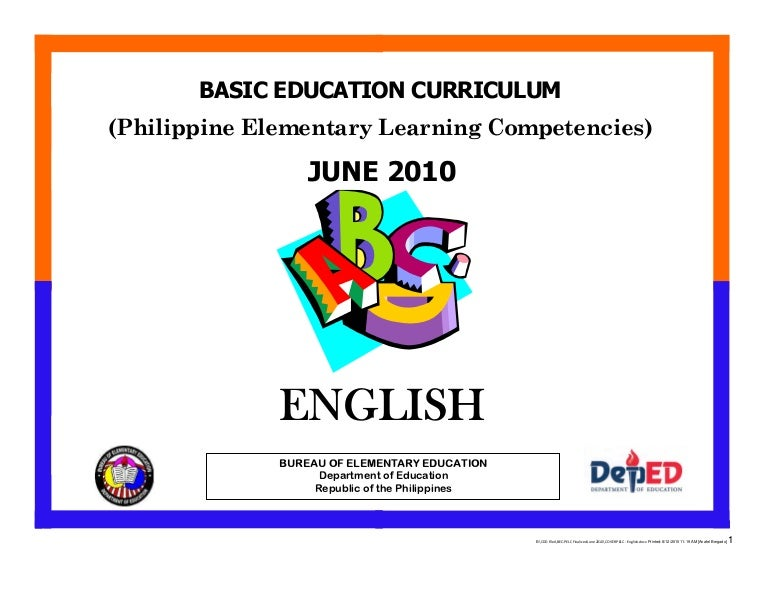 LEARNING COMPETENCIES GRADE 2