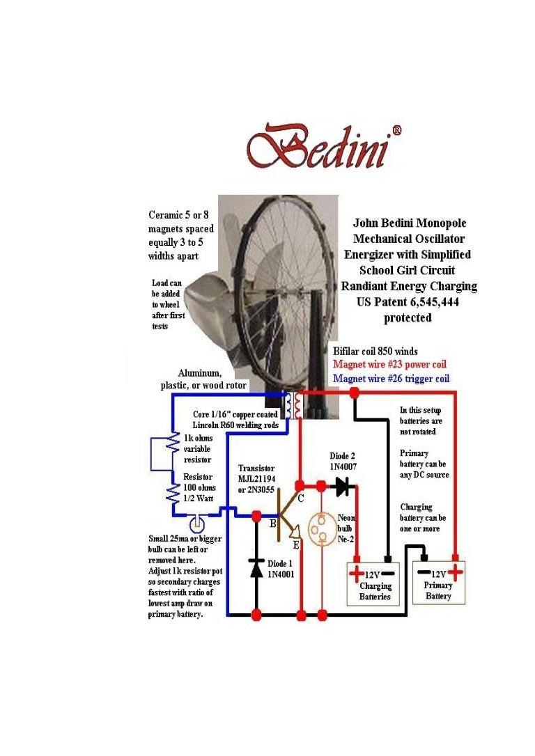 Circuito Motor Bedini : Bedini monopole motor