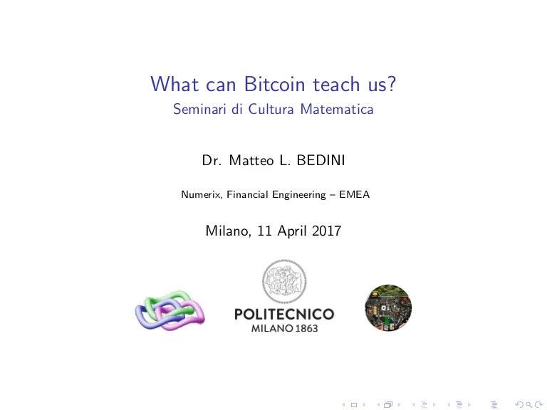 bitcoin matematică