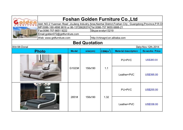 Bed Quotation With Ex Works Price (1)