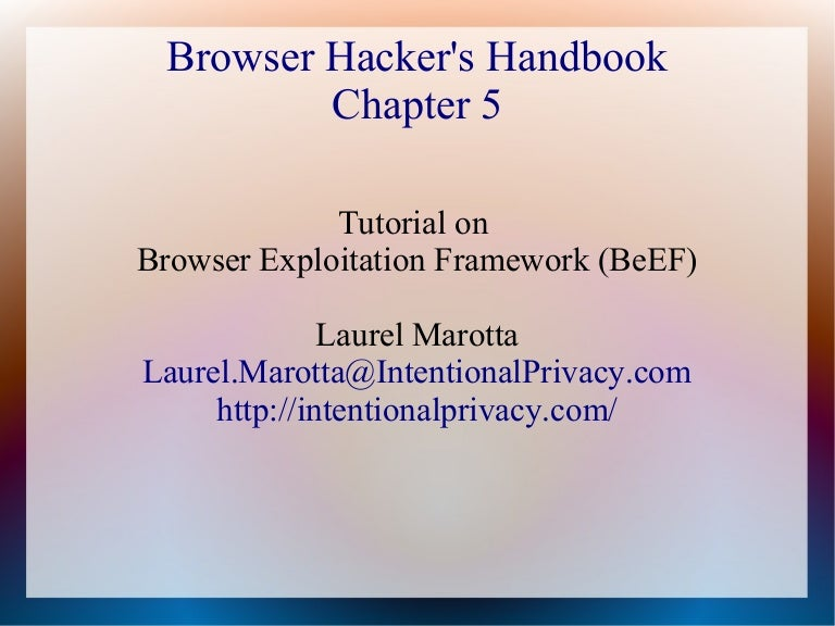 Browser Exploitation Framework Tutorial