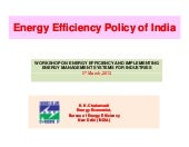 BEE_India's Energy Efficiency Policy