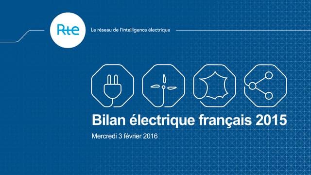 Bilan électrique RTE 2015 : une année marquée par de fortes variations de consommation et de production renouvelable