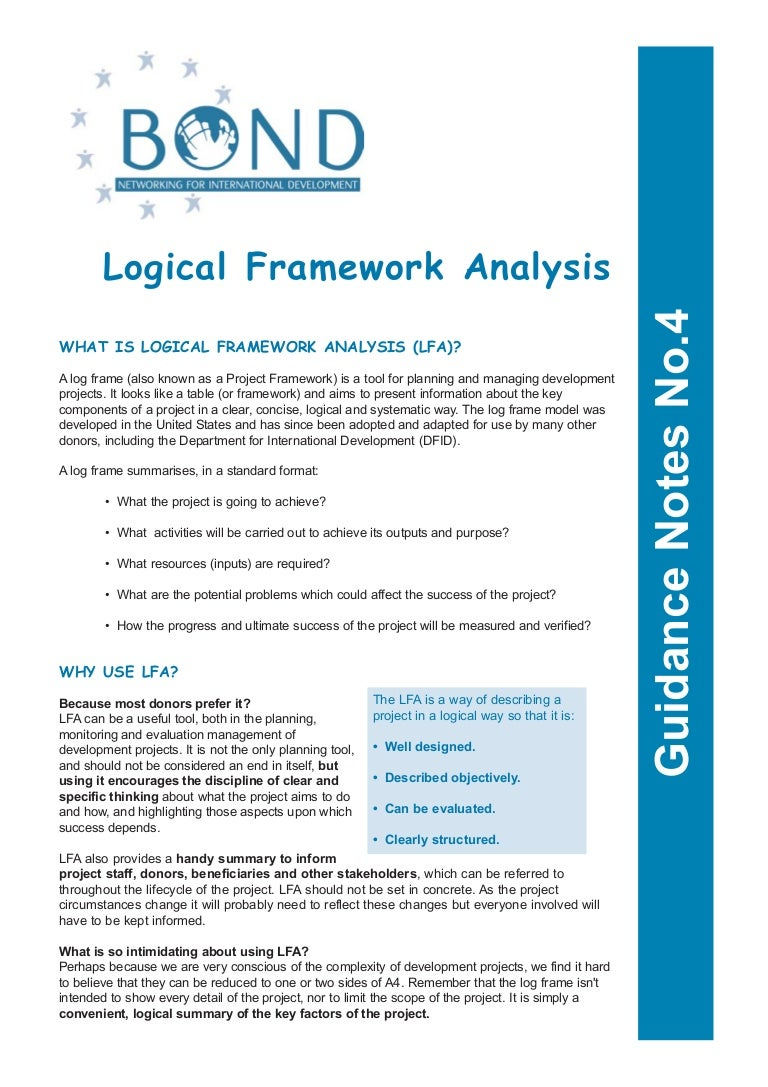 Beginners Guide To Logical Framework Approach Bond