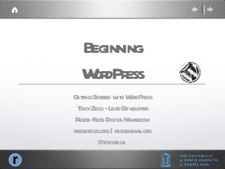 Beginning WordPress