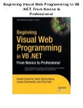 Beginning visual web programming in vb .net from novice to professional  pdf ebook full free