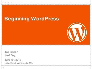 Beginning WordPress Workshop