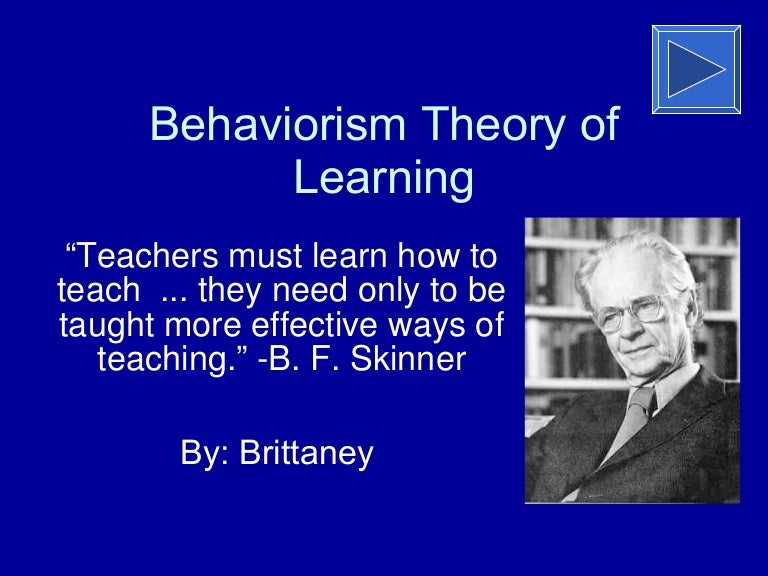 bf skinner impact on education