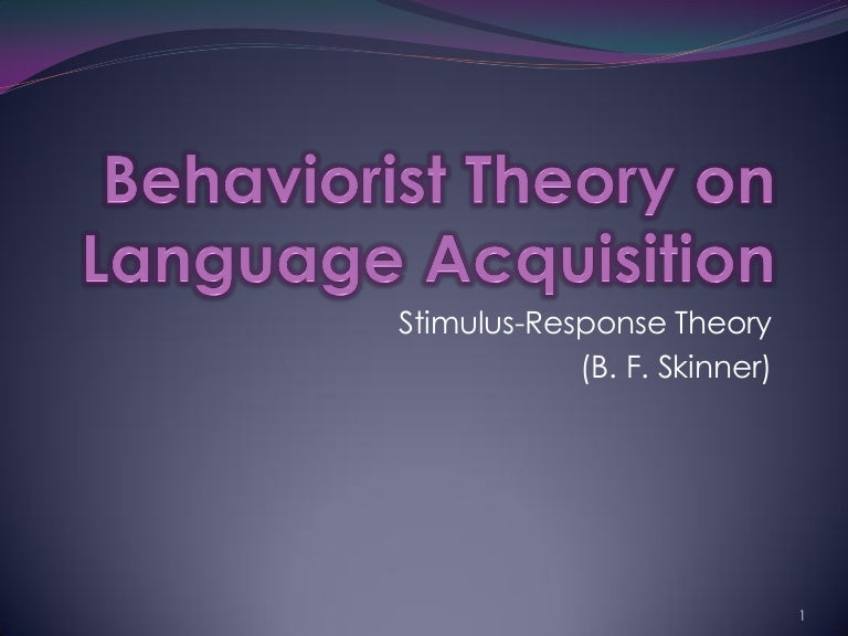 behaviorism linguistics