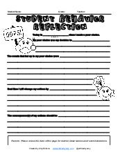 Behavior reflection form teacher and student