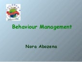 Behaviour managment