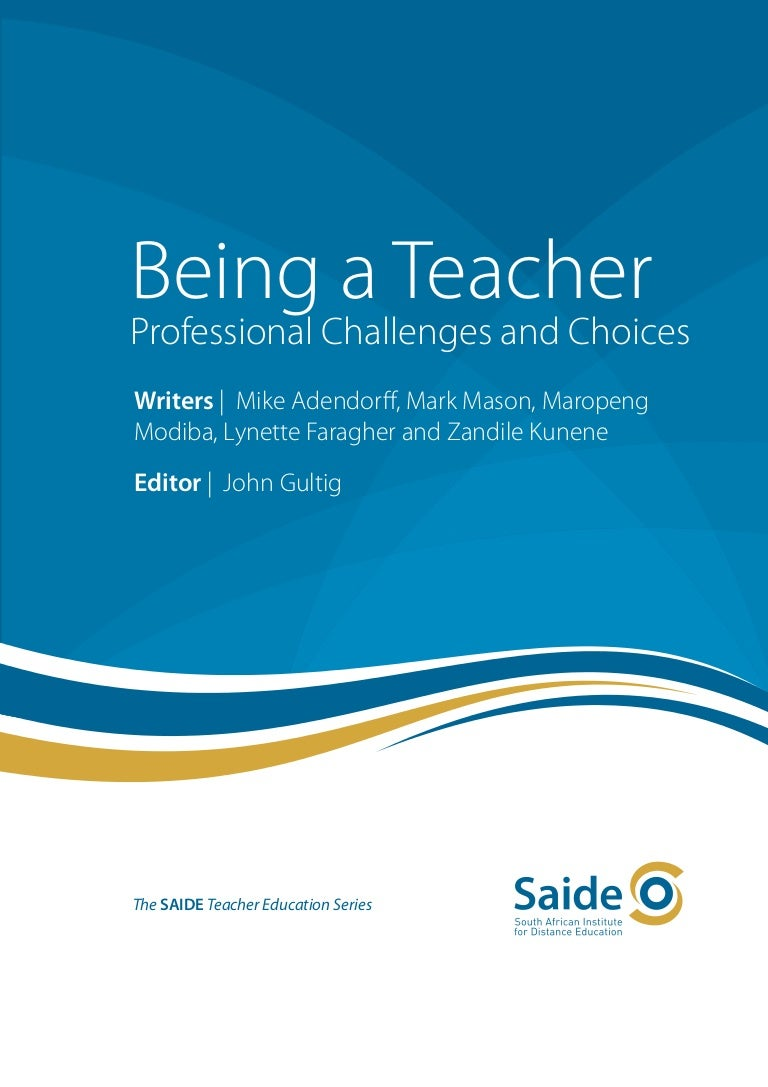 being a teacher cover title and imprint pages contents list a