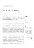 Being a teacher readings section two reading 6