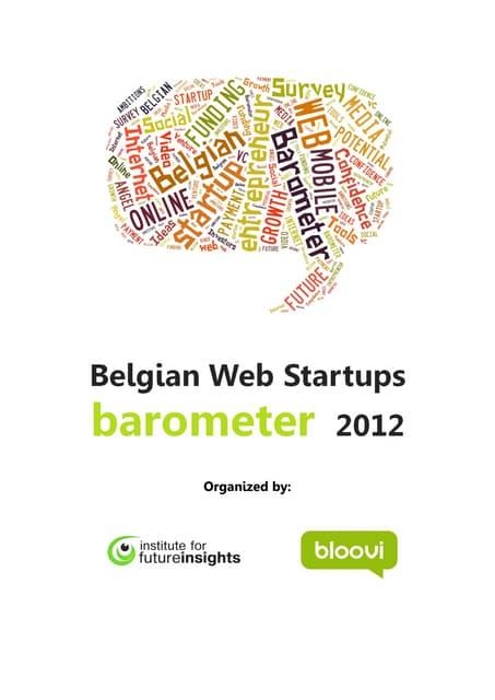 Belgian web startup barometer executive summary