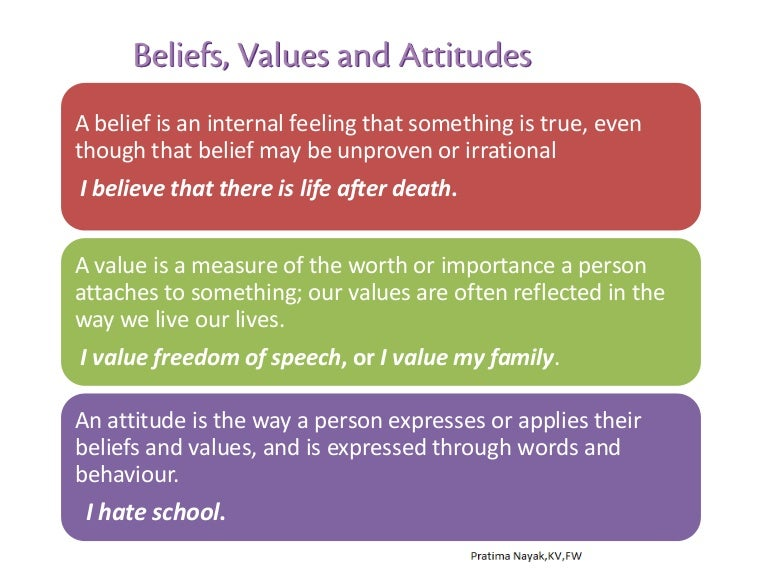 What are values in a person