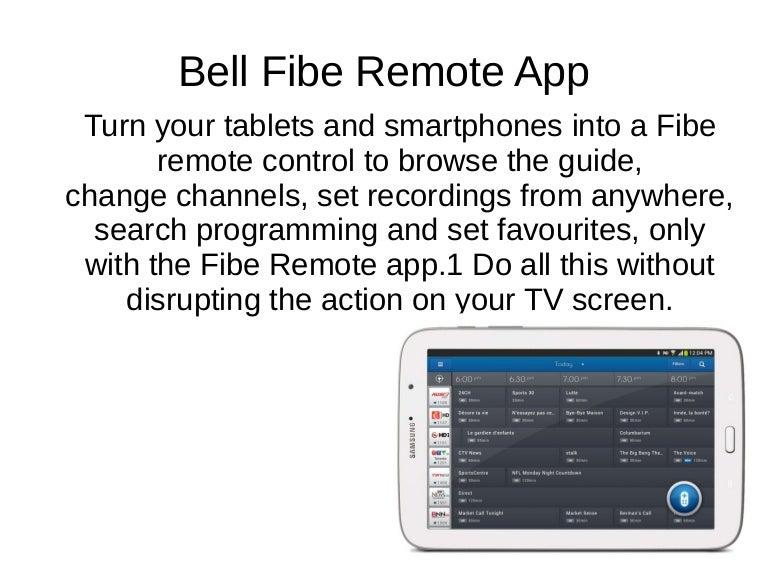 Bell Fibe Remote app
