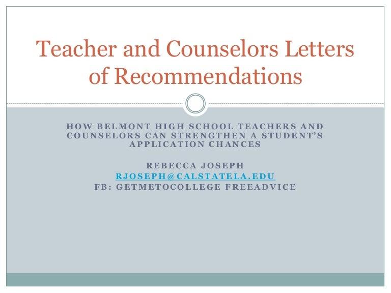 Letter Of Recommendation Template Teacher from cdn.slidesharecdn.com