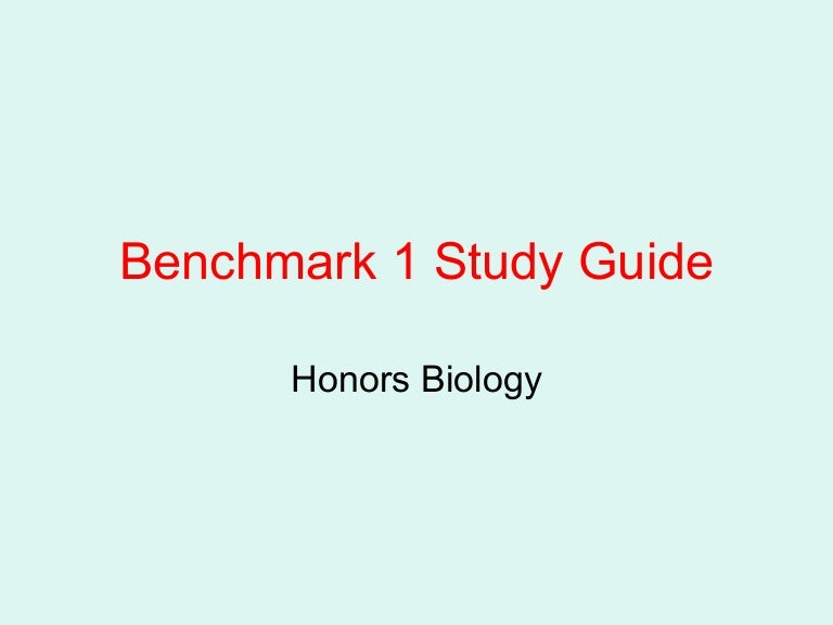 Biology benchmark 2 study guide.
